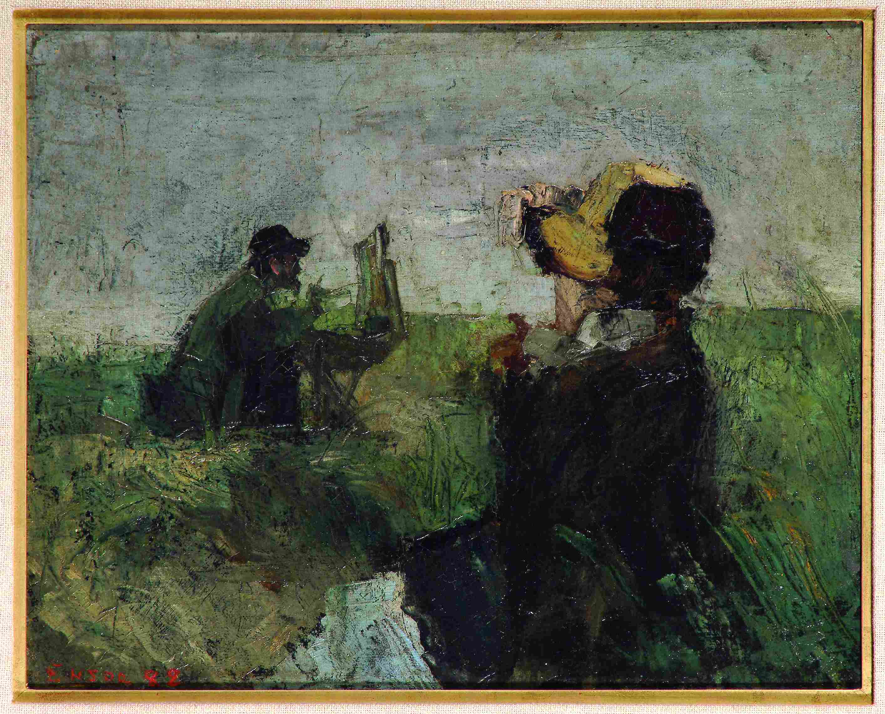 james ensor modèle dans les dunes no previous image return to ...